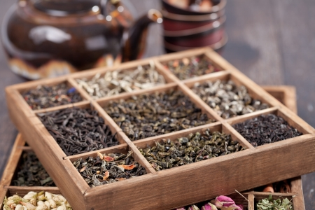assortment of dry tea photo