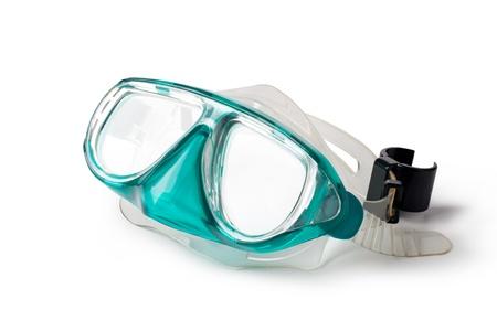 swim mask: snorkel and mask isolated on white background