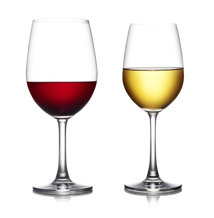 includes: Glass of red wine isolated on a white background  The file includes a clipping path