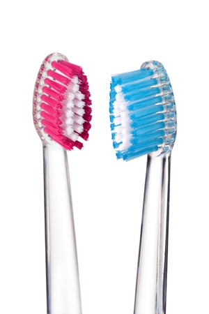toothbrush isolated on a white background photo