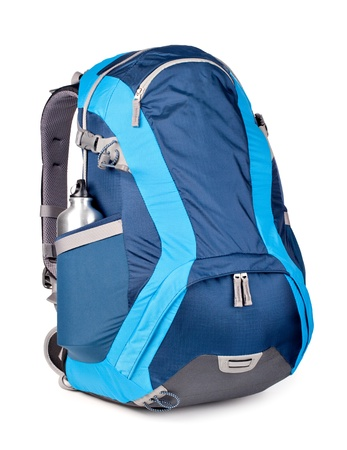blue backpack, isolated over white. Zdjęcie Seryjne - 20592076