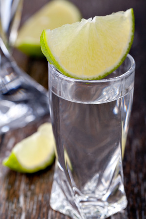 vodka on a white background photo