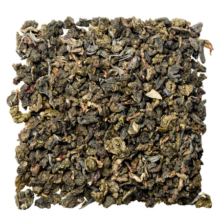 oolong: oolong tea isolated on white