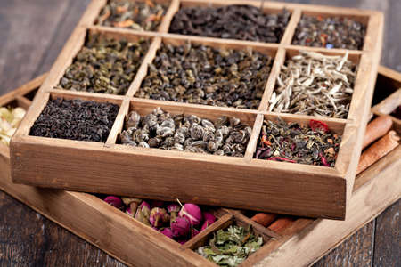 loose: assortment of dry tea