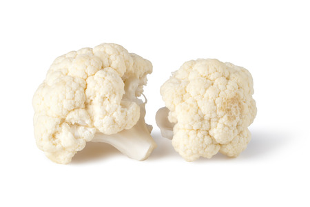 Fresh cauliflower cabbage vegetable on white background Stock Photo