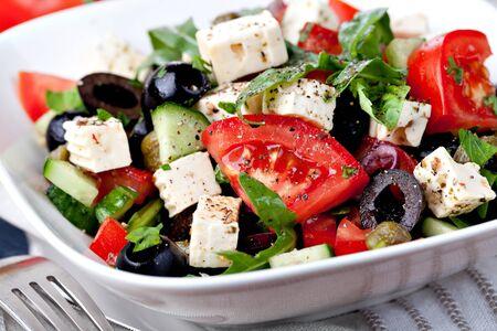 feta cheese: vegetable salad with feta cheese