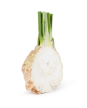 celery root: celery root on white