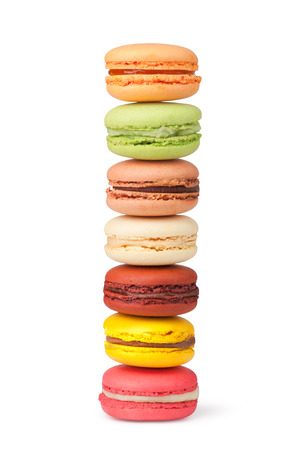 Tasty colorful macaroon on a white background Stock Photo