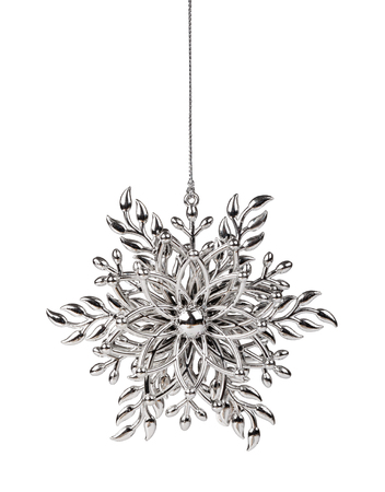 christmas ornaments: Christmas snowflake ornament on a white background