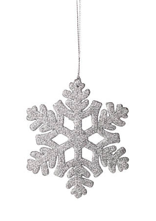 Christmas snowflake ornament on a white background photo