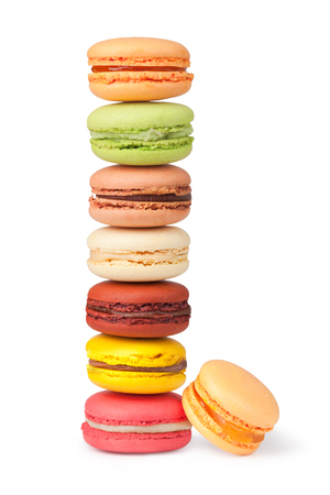 Tasty colorful macaroon  Stock Photo
