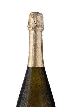condensate: champagne bottle. isolated on white background