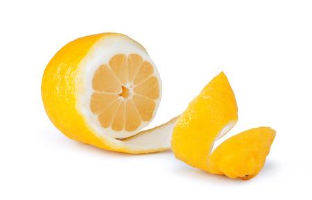 lemon fruit on a white background Stock Photo