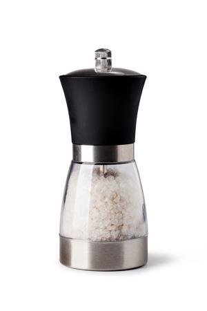 salt pepper: Salt grinder on white background