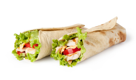 sandwich: Chicken fajita wrap sandwich