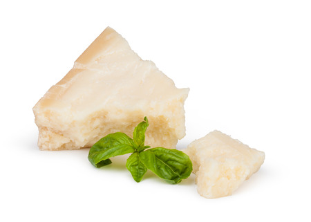 parmesan cheese: parmesan cheese on white background Stock Photo