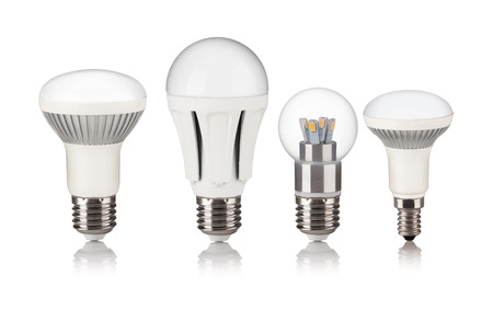 Energy saving LED light bulb isolated on a white bakground