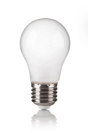 e27: light bulb isolated on a white bakground