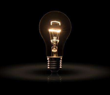 e27: light bulb isolated on a black bakground Stock Photo