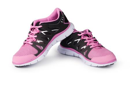 Nowe buty z systemem odizolowane na białym tle Zdjęcie Seryjne
