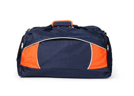 duffle: travel bag on a white background Stock Photo