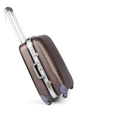 maleta: Maleta del recorrido aislada en el fondo blanco