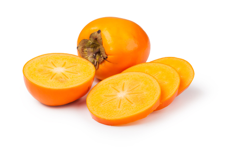 persimmons: persimmons isolated on white background