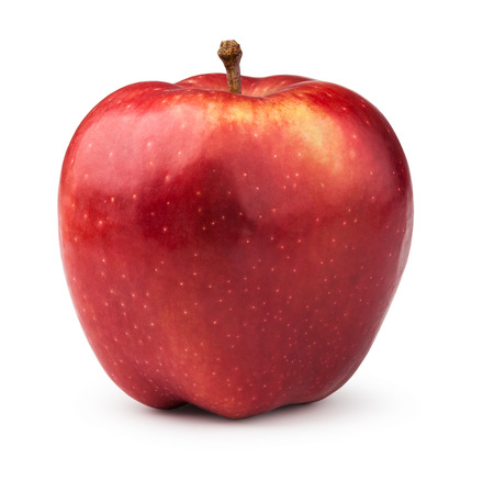 Red apple. Isolated on a white background. Standard-Bild