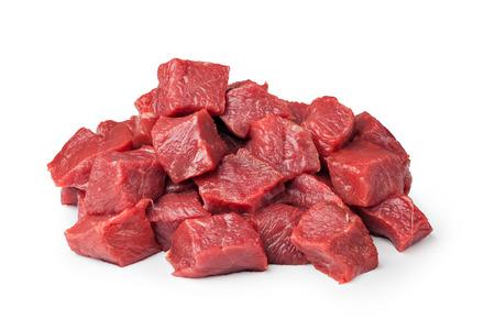 白で隔離牛肉肉