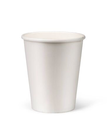 paper cup isolated on white background Banque d'images