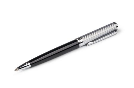 ball pens stationery: pluma aislado en un fondo blanco