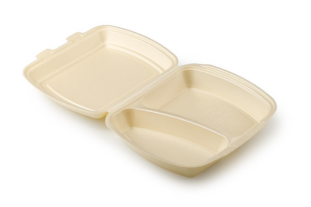 plastic to containers: Plastic containers isolated on a white background