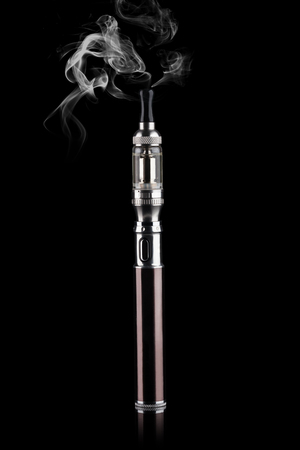 background e cigarette: electronic cigarettes isolated on black Stock Photo