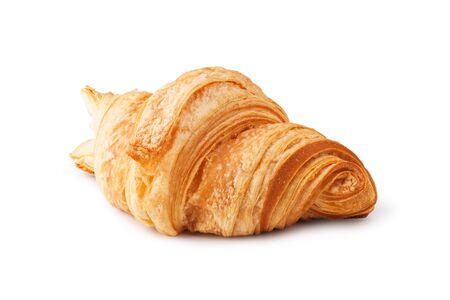 croissant: fresh croissant on white background