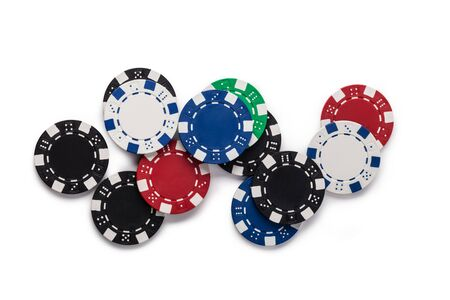 casinos: Casino chips, isolated on white background