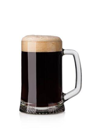 dark beer isolated on white background Archivio Fotografico