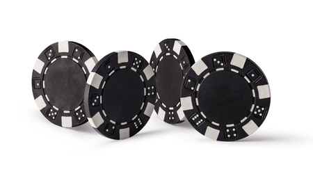 casino chips: Casino chips, isolated on white background
