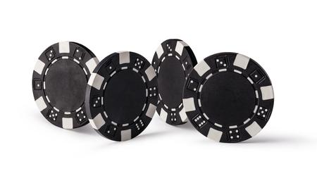 fichas casino: Fichas de casino, aislados en fondo blanco