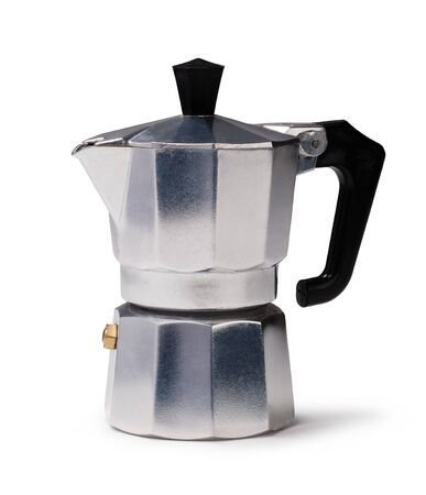 percolator: Coffee maker isolated on a white background Stock Photo