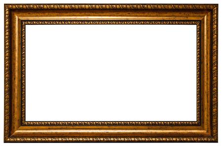 antique golden frame isolated on white background
