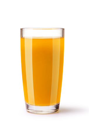 glass of juice on a white background