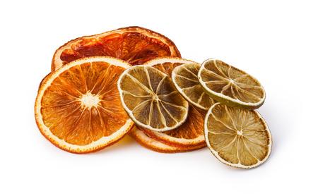 citrus: dried citrus fruit isolated on white background