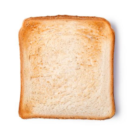 pan tostado aislado en el fondo blanco