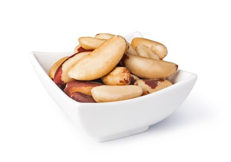 selenium: Brazil nuts  on a white background