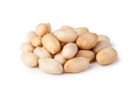 Cacahuetes aislados en un fondo blanco Foto de archivo - 54655857