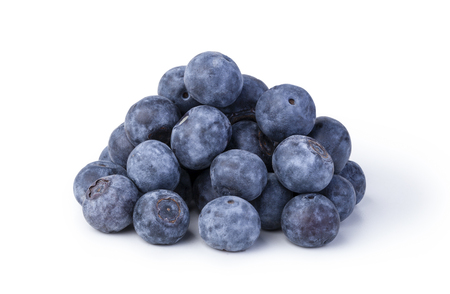 bilberries: bilberries on a white background Stock Photo