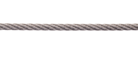 steel wire: Metal cable on white background
