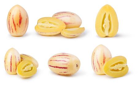 pepino: pepino melons on a white background Stock Photo