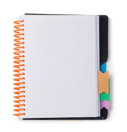 notebook page: Open Blank Page notebook on white background