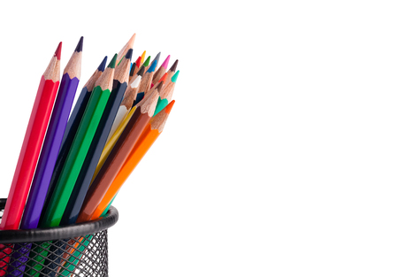 colour pencils: Colour pencils isolated on white background